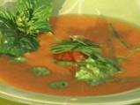 Доматена супа с босилек и кисело мляко