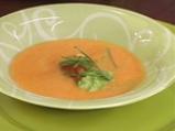 Доматена супа с босилек и кисело мляко 6