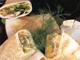 Бакла Санторини върху арабска питка с...