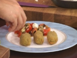 Крокети от зелен фасул със салата от патладжани 7