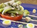 Зелен фасул със сос от синьо сирене