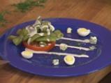 Зелен фасул със сос от синьо сирене 3
