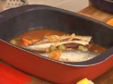 Скумрия плакия с ориз и домати 4