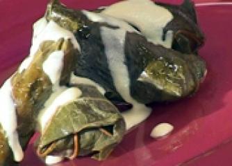 Постни сарми с лозов лист
