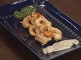 Пържени калмари с песто с тиквено семе и сос с аншоа 4
