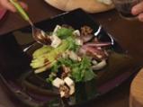 Цикория с круши, синьо сирене и малинов винегрет 4
