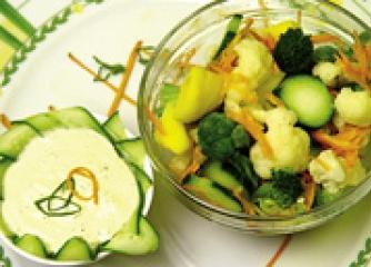 Салата от карфиол и броколи