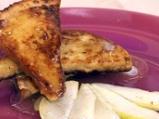 Пържени филийки със сироп и круши
