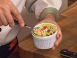 Пълнени цветове от тиквички с мус от сирене 4