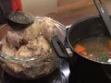 Пилешко варено с крем супа от царевица и зелен сос 2