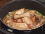 Пиле с ориз и грах 4