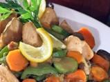 Пилешко филе със зеленчуци по тракийски