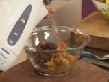 Ориенталски щрудел, сладолед от нар и киви сос с дюли 4