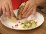 Ориенталски щрудел, сладолед от нар и киви сос с дюли 10