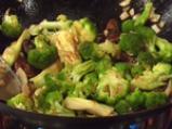 Ориз с броколи и гъби шийтаке 2