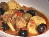 Яхния от свинско с маслини по испански