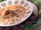 Крем супа от домати с пилешки сърчица
