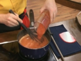 Крем супа от домати с пилешки сърчица 6