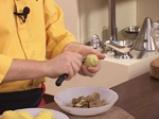 Картофени палачинки с крем от спанак и рулца от раци