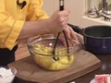 Картофени палачинки с крем от спанак и рулца от раци 2