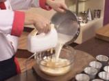 Кокосов крем карамел със супа от праскови и бананов чипс 3