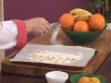 Кокосов крем карамел със супа от праскови и бананов чипс 7