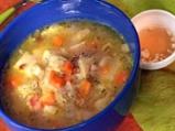 Супа от шкембе със зеленчуци и бекон ...
