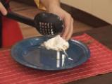 Забулени яйца с пюре от карфиол и крокан от картофи 10