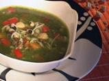 Зелена супа с три варива