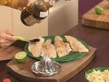 Салата с пъстърва и оризови нудълс 5