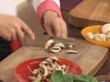 Качамак-мусака със спанак и печурки 2
