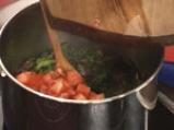 Качамак-мусака със спанак и печурки 4