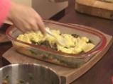 Качамак-мусака със спанак и печурки 7