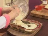Качамак-мусака със спанак и печурки 9