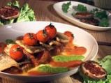 Пъстърва с рагу от домати и два соса