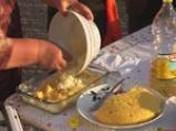 Мамалига с пилешки бутчета 5