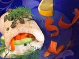 Рулца пангасиус с тиквички и моркови