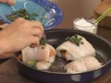Рулца пангасиус с тиквички и моркови 9