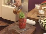 Салата от патладжани с доматен винегрет 4