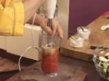 Салата от патладжани с доматен винегрет 6
