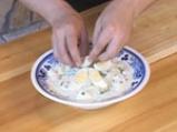 Ордьовър от аспержи със скариди и сварени яйца 10