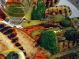 Лаврак със зеленчуци