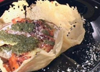 Купичка от пармезан със зеленчуци и п...