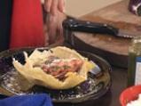 Купичка от пармезан със зеленчуци и песто 8