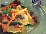Равиоли с коприва, зеленчуци, песто и...