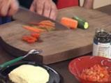 Равиоли с коприва, зеленчуци, песто и шафран