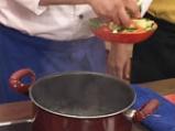 Равиоли с коприва, зеленчуци, песто и шафран 4