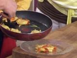 Равиоли с коприва, зеленчуци, песто и шафран 6