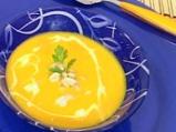 Крем супа от моркови с лук и кашу