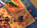 Свински шишчета с динен барбекю сос